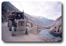 Tractor ride down the Gilgit Valley, Pakistan