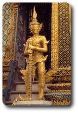 Statue at the Grand Palace, Bangkok, Thailand