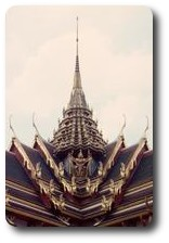 Roof of Dusit Hall, Grand Palace, Bangkok, Thailand