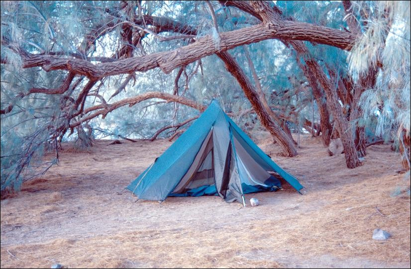 Camping in Death Valley, California, USA