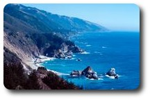 Pacific coast along Route 1, California, USA