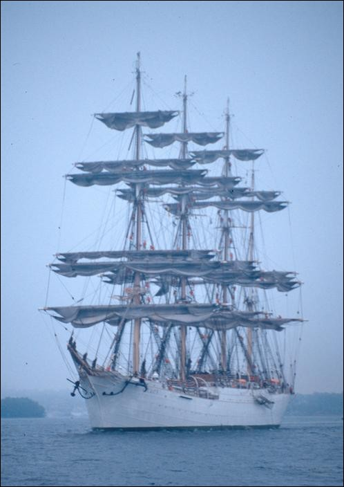 Sedov at the Tall Ships' Race, Mariehamn, Finland