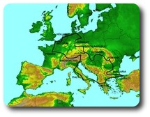 Map of Second Europe trip