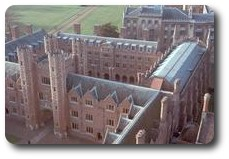 Roofs of Third Court, St. John's College, Cambridge, England